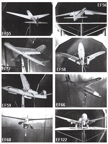Modèles d'étude pour le Ju-287